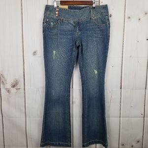 NWT Mossimo Distressed Flare Jean Size 15